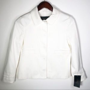 Zara Basic Button Up Jacket White Small